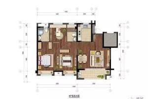 十大完美刚需户型系列之五95㎡三室两厅两卫一厨户型